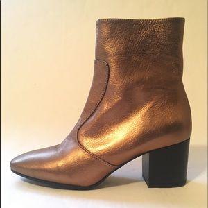 Size 9 TOPSHOP Bronze Boots